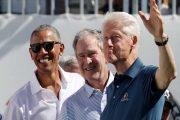 3 رؤساء أميركيين في لقطة